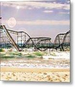 Hurricane Sandy Jetstar Roller Coaster Sun Glare Metal Print by Jessica Cirz
