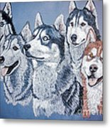 Huskies By J. Belter Garfunkel Metal Print by Sheldon Kralstein