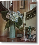 Hydrangea Still-life Metal Print by Terry Rowe