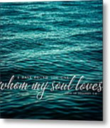 I Have Found The One Whom My Soul Loves. Metal Print by Lisa Russo