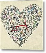 I Love My Brompton Metal Print by Andy Scullion