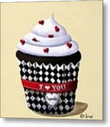I Love You Cupcake Metal Print by Catherine Holman