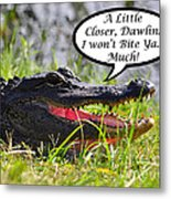 I Won't Bite Greeting Card Metal Print by Al Powell Photography USA