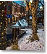 Ice Fountain Metal Print by Baywest Imaging