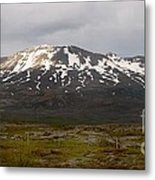 Icelandic Landscaope Metal Print by Louise Fahy