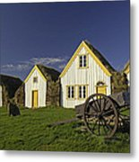 Icelandic Turf Houses Metal Print by Claudio Bacinello