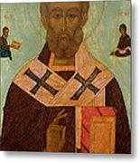 Icon Of St. Nicholas Metal Print by Russian School