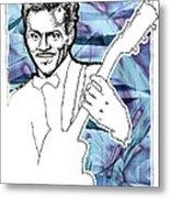Icons- Chuck Berry Metal Print by Jerrett Dornbusch
