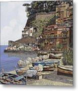 il porto di Sorrento Metal Print by Guido Borelli