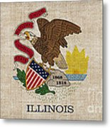 Illinois State Flag Metal Print by Pixel Chimp