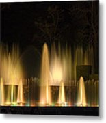 Illuminated Dancing Fountains Metal Print by Sally Weigand