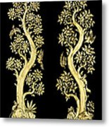 Images Artistic From Thai Painting And Literature For Background Metal Print by Pakorn Kitpaiboolwat