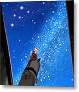 In Awe Of Andromeda And The Milky Way Metal Print by Kathleen Horner