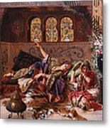 In The Harem Metal Print by Rudolphe Ernst