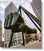 In Your Face -  Joe Louis Fist Statue - Detroit Michigan Metal Print by Gordon Dean II