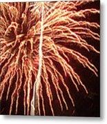 Independence Day Sparklers 2 Metal Print by Deborah Smolinske