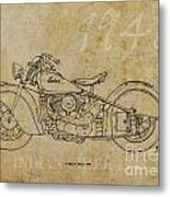 Indian Chief 1948 Metal Print by Pablo Franchi