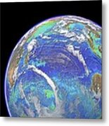 Indian Ocean, Chlorophyll And Bathymetry Metal Print by Science Photo Library