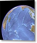 Indian Ocean, Sea Floor Topography Metal Print by Science Photo Library