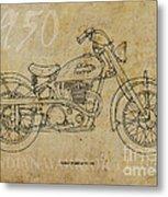 Indian Warrior Tt 1950 Metal Print by Pablo Franchi