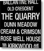 Indiana College Town Wall Art Metal Print by Replay Photos