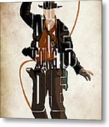 Indiana Jones Vol 2 - Harrison Ford Metal Print by Ayse Deniz