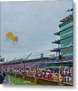 Indianapolis 500 May 2013 Balloons Race Start Metal Print by David Haskett