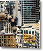 Indianapolis Aerial Picture Of Monument Circle Metal Print by Paul Velgos