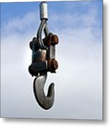 Industrial Lifting Hook Metal Print by Science Photo Library
