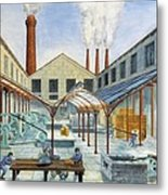 Industrial Revolution 19th C.. Factiry Metal Print by Everett