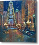 Indy Circle Christmas Metal Print by Donna Shortt