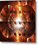 Inner Strength - Abstract Art Metal Print by Carol Groenen