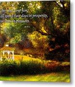 Inspirational - Prosperity - Job 36-11 Metal Print by Mike Savad
