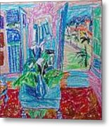 Interior A La Nice Metal Print by Esther Newman-Cohen