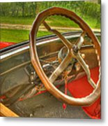Interior Of A 1926 Model T Ford Metal Print by Thomas Young