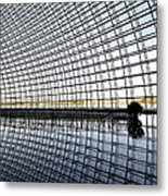 Interior Of The National Grand Theatre - Beijing China Metal Print by Brendan Reals