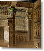 Interior View Of The West Temple Metal Print by Le Pere
