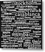 Intransit 20130625bw Metal Print by Wingsdomain Art and Photography