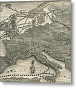 Invasions By The Norsemen Metal Print by Leslie Ashwell Wood