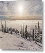 Inversion Sunset Metal Print by Aaron Aldrich