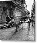 Invisible Rickshaw Puller Metal Print by Soumya Shankar Ghosal