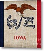 Iowa State Flag Metal Print by Pixel Chimp