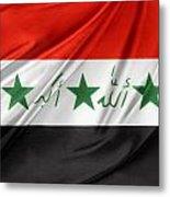 Iraq Flag Metal Print by Les Cunliffe