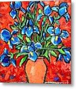 Iris Bouquet Metal Print by Ana Maria Edulescu