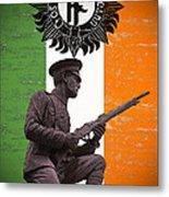 Irish 1916 Volunteer Metal Print by David Doyle