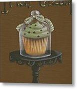 Irish Cream Cupcake Metal Print by Catherine Holman