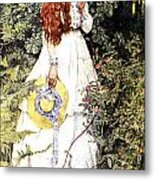 Is She Not Pure Gold My Mistress Metal Print by Eleanor Fortescue Brickdale