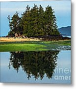 Island Reflection Metal Print by Robert Bales
