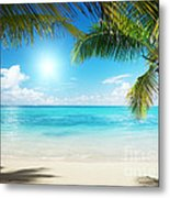 Islands In The Caribbean Sea Metal Print by Boon Mee