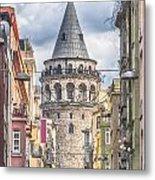 Istanbul Galata Tower Metal Print by Antony McAulay